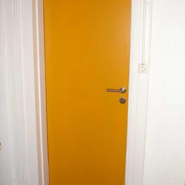 Brandschutz Tür Gelb