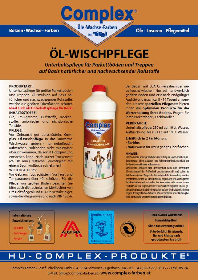Öl Wischpflege